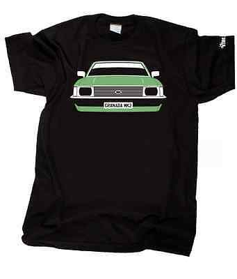 S-XXXL FORD GRANADA Mk2 Mark II Pick car colour /& plate CUSTOM HTees T-shirt