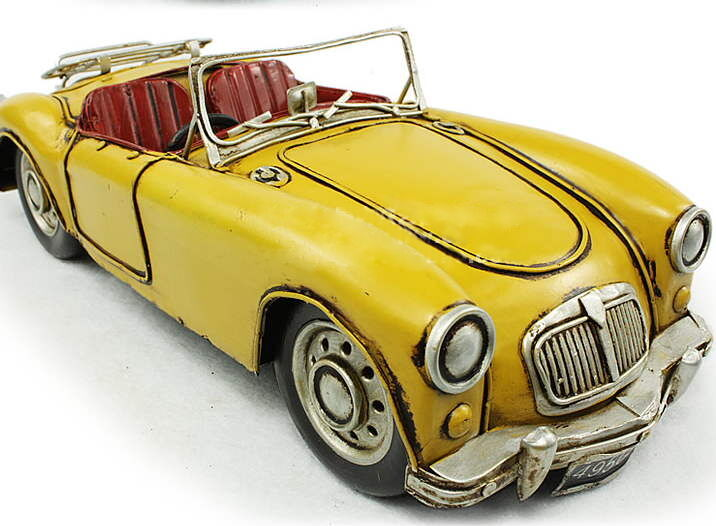 MGA Estaño Estaño Estaño Juguete Hojalata Coche blechmodell Auto VOITURE Tole Buriki Vintage Hecho A Mano  calidad garantizada