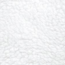 White Faux Fur Sherpa Fleece Fabric By The Yard