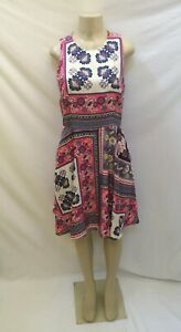 08f936ac2834 Image is loading Anthropologie-Donna-Morgan-Size-10-Sleeveless-Multi-Color-