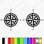 2x-Compass-Caravan-Graphics-Kit-navigation-auto-sleeper-sticker-decals thumbnail 2