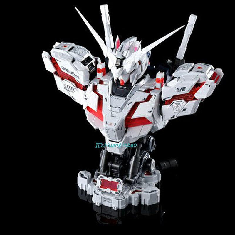 1 35 Escala Modelo RX-0 Unicornio Gundam Busto montado luz LED En Caja En Stock