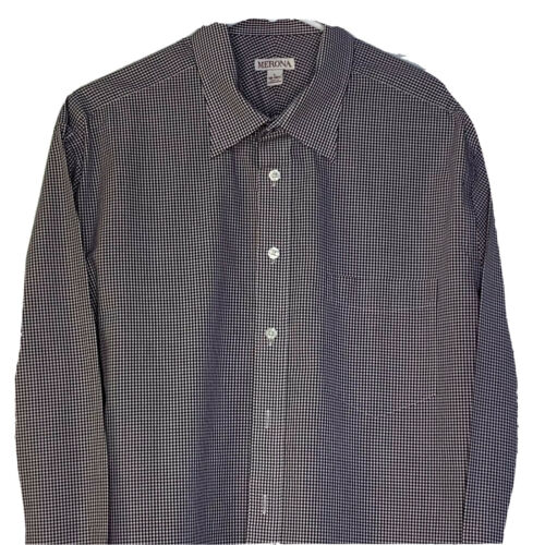 Red Checkered Long Sleeve New Details about  /Merona Men/'s Tailored Dress Shirt Target Size M