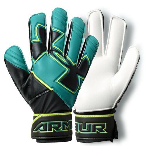 Under Armour Spine Kid Goalkeeper Soccer Gloves Sz 5 Clutchfit Black Teal