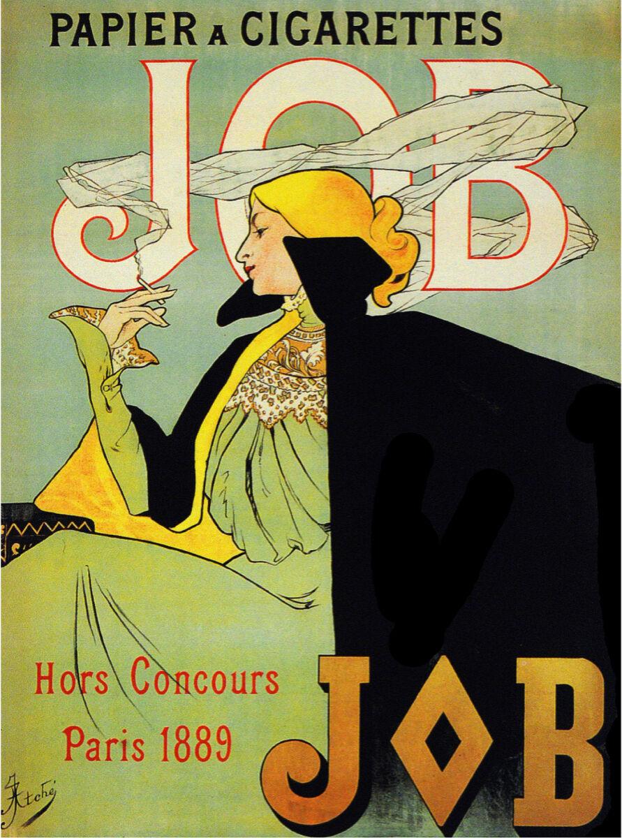 French Vintage Poster.Job Paris 1889.House Home art Decor Interior design.799i