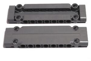 LEGO-Technik-2-x-Panel-Platte-3x11x1-dunkelgrau-Panel-Plate-15458-NEUWARE