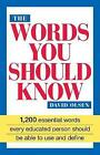 The Words You Should Know by David Olsen (Paperback, 1991)