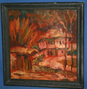 VINTAGE OIL PAINTING EXPRESSIONIST COMPOSITION NUDE   eBay
