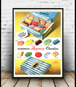 Clarnico-Regency-candies-Vintage-Advertising-poster-reproduction