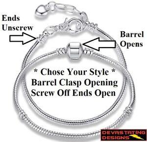 925-Sterling-Silver-Women-039-s-Opulent-Snake-Chain-Bracelet-Bangle-D403-92