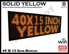 40x15 Led Yellow Color Wifi Semi Outdoor Indoor Programmable Scrolling Sign
