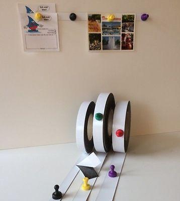 Magnetba 120mm x 1000mm x 0,6mm Weiß Matt Eisenfolie Ferroband selbstklebend