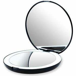 Led Compact Amp Travel Mirrors Lighted Makeup Mirror 1x 10x