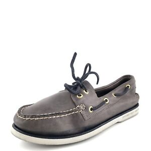 4ef3182c0e Sperry Top-Sider Gold Cup Original Gray Navy Leather Boat Shoes ...