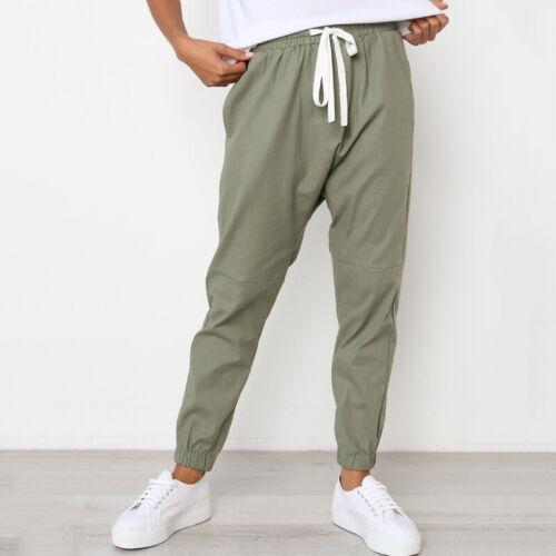 Donna Casual Estivo Sport Palestra Pantaloni Elastico Vita Alta Estate Harem