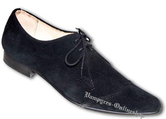 Boots And Braces Schuhe Winkelpiker Classic Schwarz Wildleder Pikes Suede Black