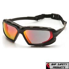 Pyramex Highlander Xp Safety Glasses Sky Red Mirror Anti Fog Lens Z87 Sbg5055dt