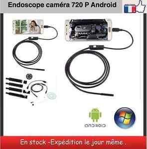 Endoskop android Kamera HD 720 P 6 LED Länge 1 m