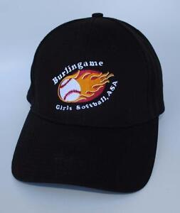 Burlingame Girls Softball ASA CA One Size Dad Hat Baseball Cap NEW ... ba6804fea39