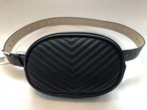92a4db61d106 Steve Madden Quilted Chevron Belt Bag Size: XL Fanny Pack   eBay