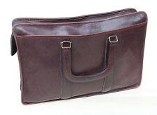 Vintage Distressed COACH Satchel Attache Office Bag Plum Burgundy Leather USA