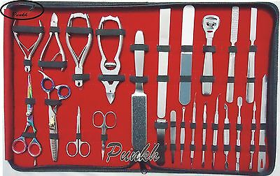 24 PCS NEW FULL RANGE GERMAN STAINLESS STEEL MANICURE AND PEDICURE TOOL KIT/SET