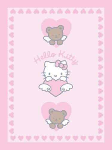 Mikrofaser Flauschdecke Kuscheldecke Decke Plaid Hello Kitty 75 x 100 cm neu