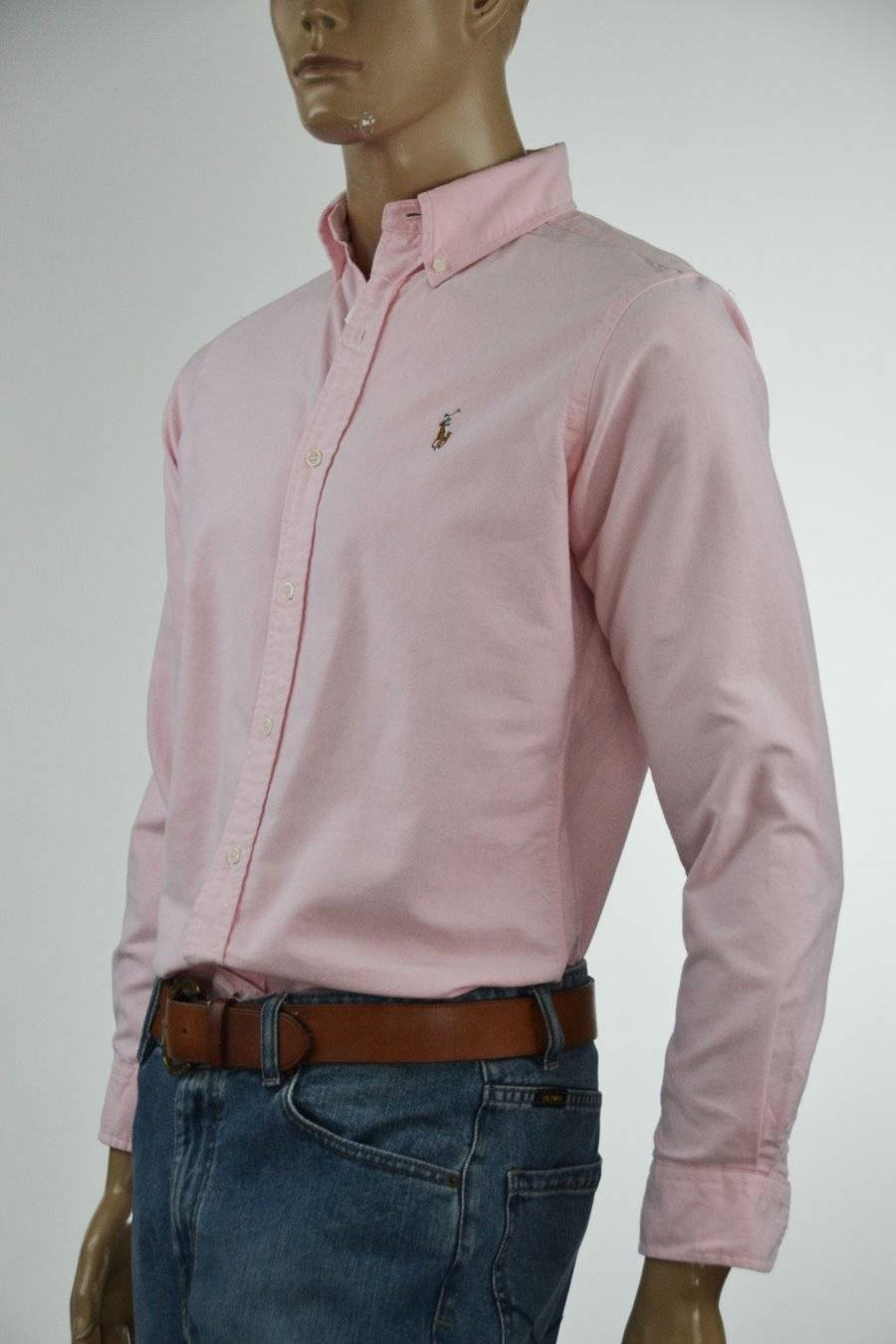 Ralph Lauren Classic Fit Pink Oxford Cotton Long Sleeve Shirt Pony- NWT-Small