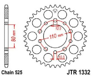 2014-2015 JT Sprockets Steel Rear Sprocket 525 Pitch 42T Triumph America LT