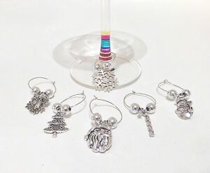 6-CHRISTMAS-WINE-GLASS-CHARMS-MARKERS-TABLE-DECORATION-STOCKING-FILLER