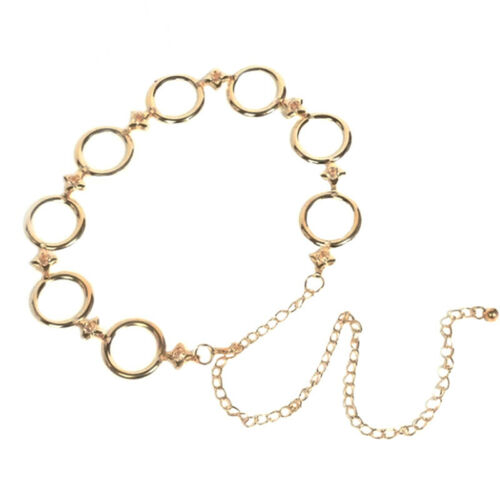 Women Ladies Girls Metal Gold Waist Chain Belt Bridal Wedding Party Fashion