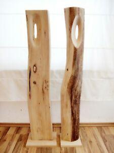 Einzelstücke Große Deko Baumstamm Skulpturen Kunst Holz Robinie ...