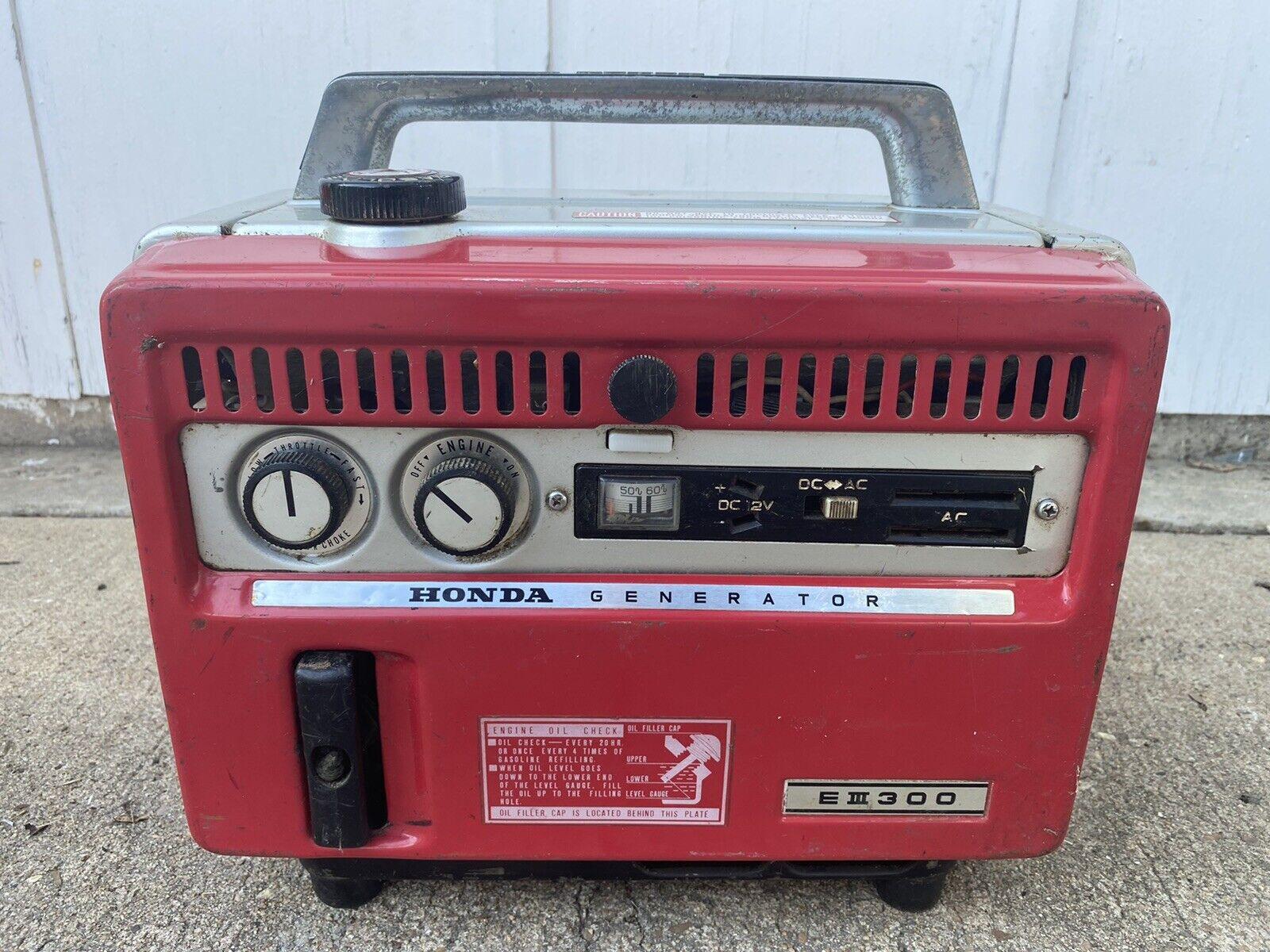 Honda Vintage E300 Portable Generator For Sale Online