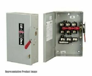 GE TH3362R 3 Wire 3 Pole Fusible Type TH Heavy-Duty Safety Switch 600 Volt AC 60 Amp NEMA 3R Spec-Setter�