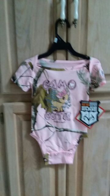 3089bd424 Camo Cutie Realtree Pink Camo Infant Baby Toddler Body Suit Snap Shirt  12/18 m