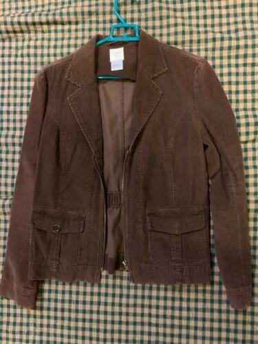 Garnet Hill Brown Cordoroy Jacket