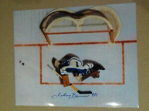 Johnny Bower Hockey HOF Toronto Maple Leafs autographed 8x10 photo