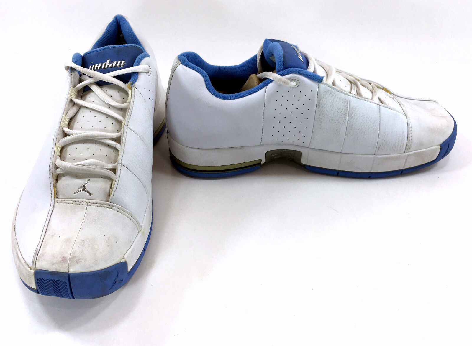 nike schuhe air jordan ii - team elite - ii jordan - 2 niedrigen weißen / blaue turnschuhe missverhältnis 9.5/9 e1258a
