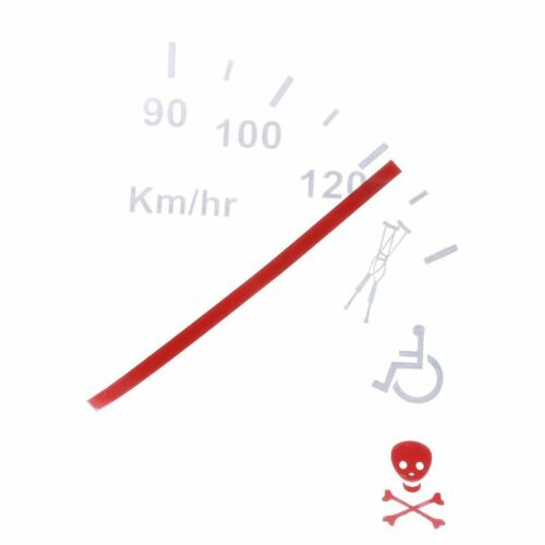 Speeding Safe Warning Funny Speedometer Cluster Car Decal Sticker Stickers Decal