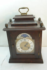 VINTAGE MANTLE CLOCK GERMANY BRACKET MOON PHASE CHIME WUERSCH MANTEL MECHANICAL