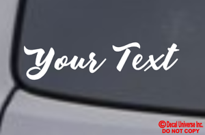 CUSTOM YOUR TEXT Vinyl Decal Sticker Window Wall Bumper Personalized Name Decor