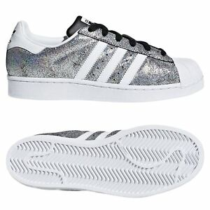 official photos 3778f a049b Image is loading adidas-ORIGINALS-WOMEN-039-S-SUPERSTAR-TRAINERS-METALLIC-