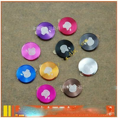 metal aluminium home button sticker for apple iphone 3, 4s-5 ipad 1-5