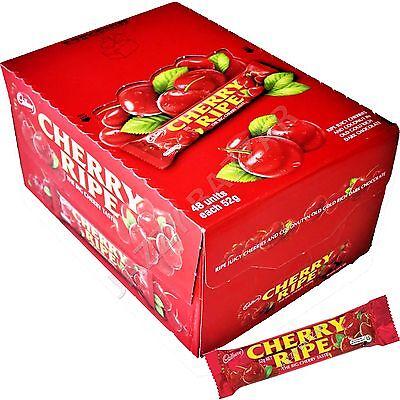 48 x Cadbury Cherry Ripe Milk Chocolate Medium Bars 52g - 2.49Kg Bulk Wholesale