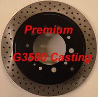 07-13 Tundra Sequoia Premium Performance Cross Drilled Rotors Rear Pair