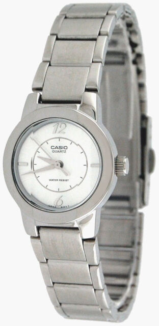 Casio Ladies Stainless Steel Silver Casual Quartz Dress Watch LTP-1230D-7C New