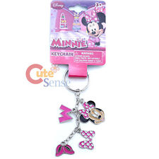 Disney Minnie Mouse 4 Charm Dangle Metal Key Chain  Pink Shoes