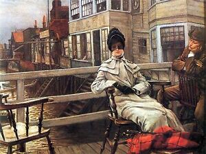 JAMES-TISSOT-ON-FERRY-WAITING-OLD-MASTER-ART-PAINTING-PRINT-POSTER-1471OMA