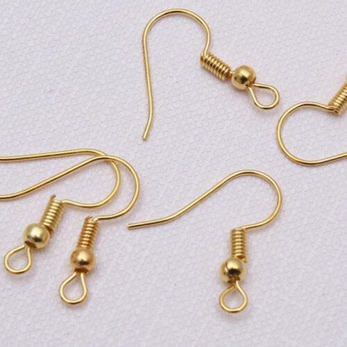 100pcs Earring Hooks Wires Fish Hooks-Silver Plated Jewellery Earring Findings