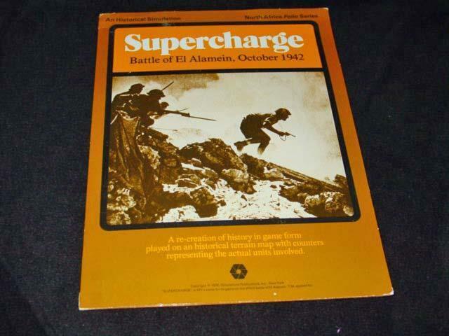 SPI 1976-sobreCochega-Batalla de el Alamein-norte de África Folio Juego (UNP)